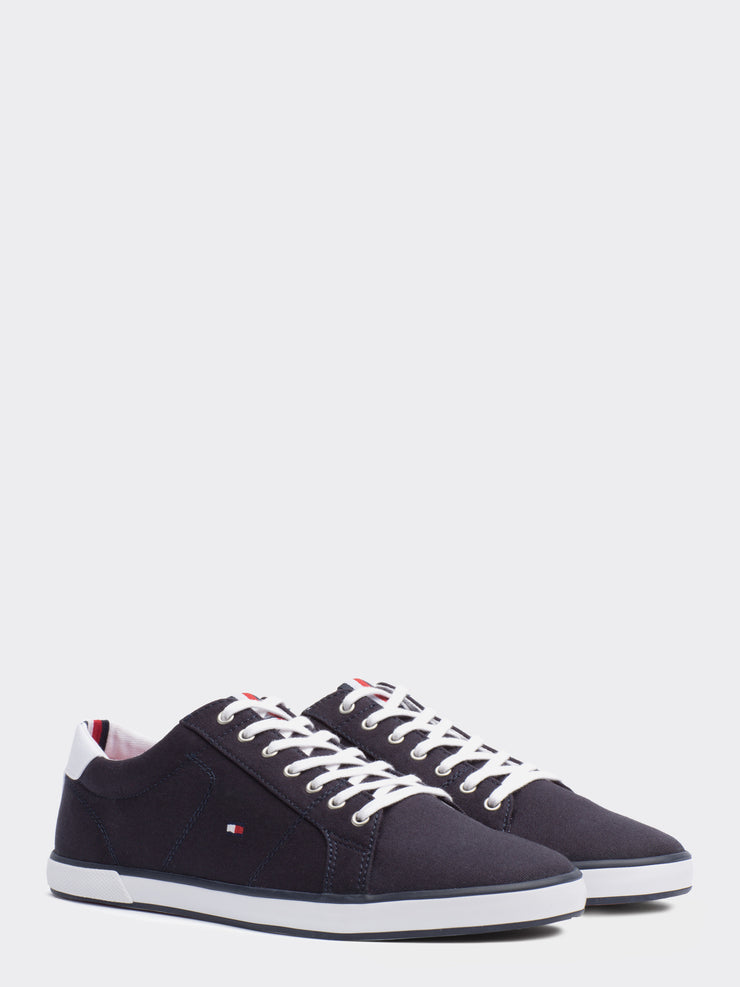 Tommy Hilfiger Canvas Lace Up Trainers Navy