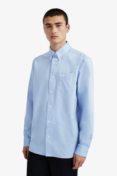 Fred Perry Oxford Shirt Blue