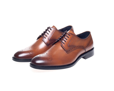 John White Pembroke Tan Derby Shoes