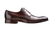 Barker Southwold Dark Brown Calf /Deerskin Toe Cap Derby Shoe