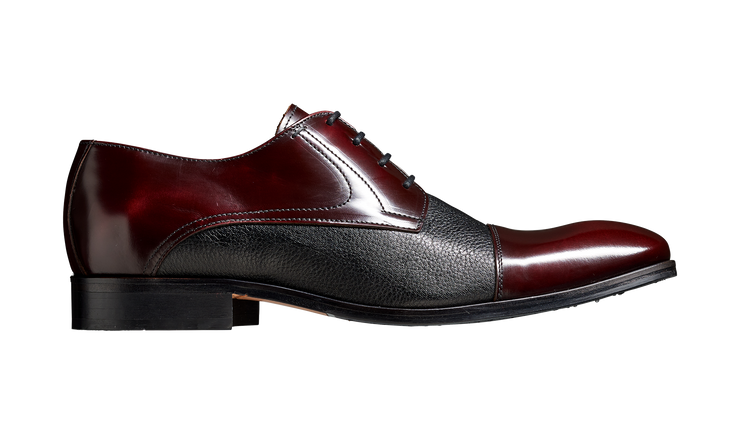 Barker Southwold Burgundy Hi-Shine / Black Deerskin Derby Shoe