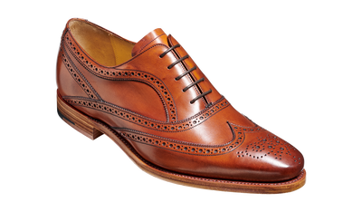 Barker Turing Antique Rosewood Calf Oxford Brogue Shoe