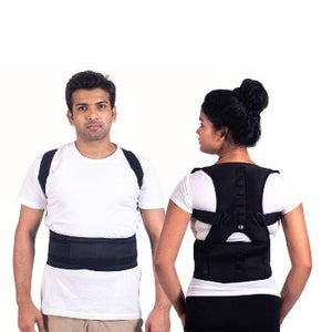Magnetic Posture Corrector Adjustable for Neck, Back & Abdominal Support Brace Belt