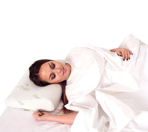Memory Foam Pillow with Organic Bamboo Fabric Cover - Grin Health Singapore