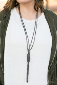 Boom Boom Knock You Out Black Paparazzi Necklace