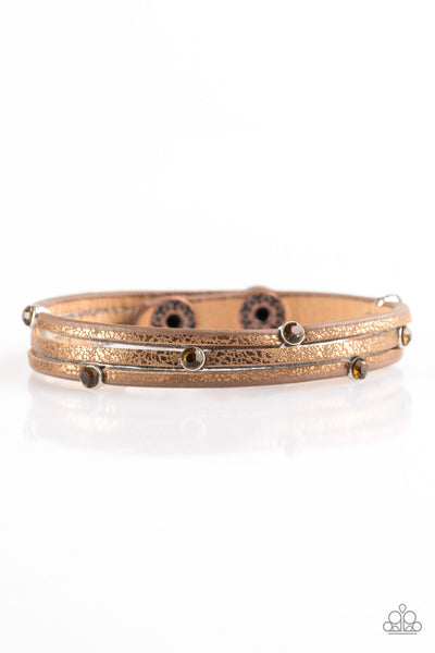 Drop A Shine Paparazzi Bracelet-Copper