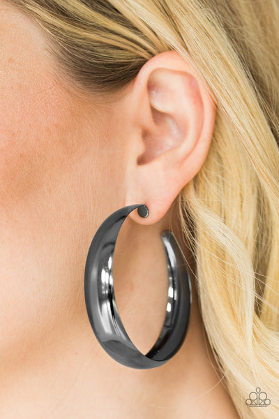 Gypsy Goals Paparazzi Earrings-Black