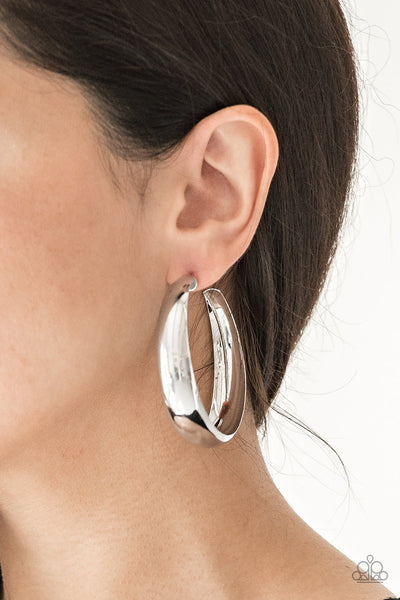 Gypsy Goals Paparazzi Earrings-Silver