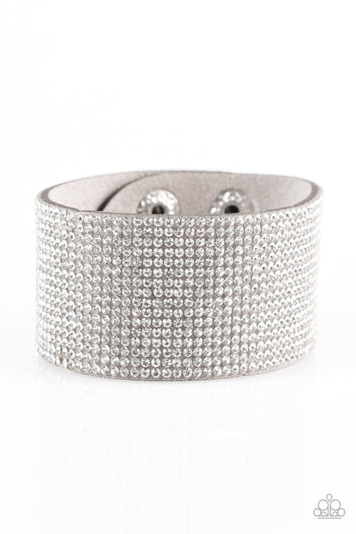 Roll With The Punches Paparazzi Bracelet-Grey