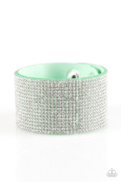 Roll With The Punches Paparazzi Bracelet-Green