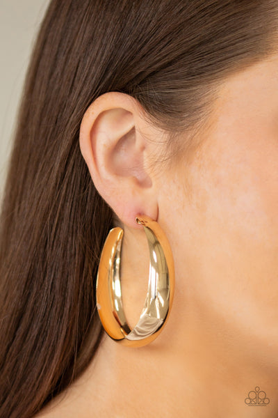 Gypsy Goals Paparazzi Earrings-Gold