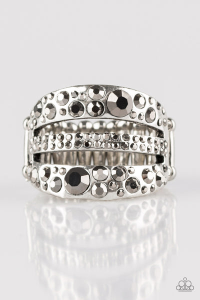 Stacks On Stacks On Stacks Silver Paparazzi Ring