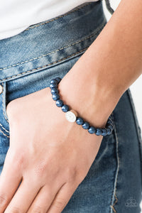 Follow My Lead Paparazzi Bracelet-Blue