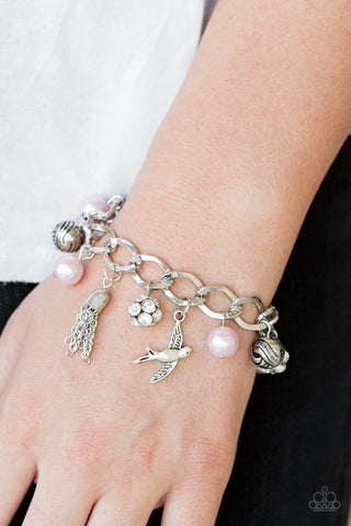 Lady Love Dove Paparazzi Bracelet-Pink