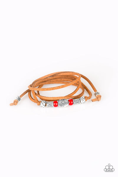 Clear A Path Paparazzi Bracelet-Red