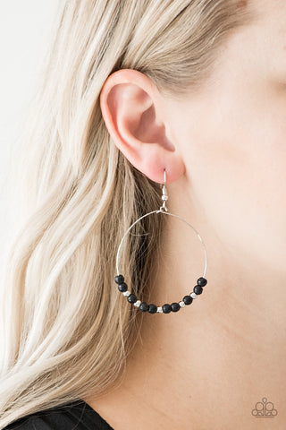 Stone Spa Paparazzi Earrings-Black