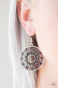 Malibu Musical Paparazzi Earrings-Red