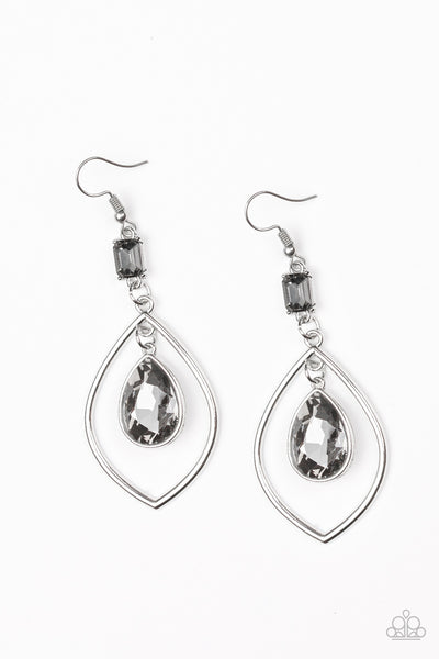 Priceless Paparazzi Earrings-Silver