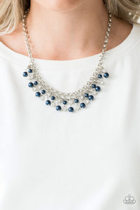 You May Kiss The Bride Paparazzi Necklace-Blue