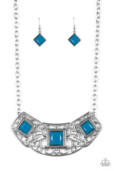 Feeling Inde-PENDANT Paparazzi Necklace-Blue