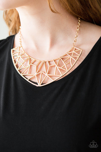 Strike While HAUTE Paparazzi Necklace-Gold