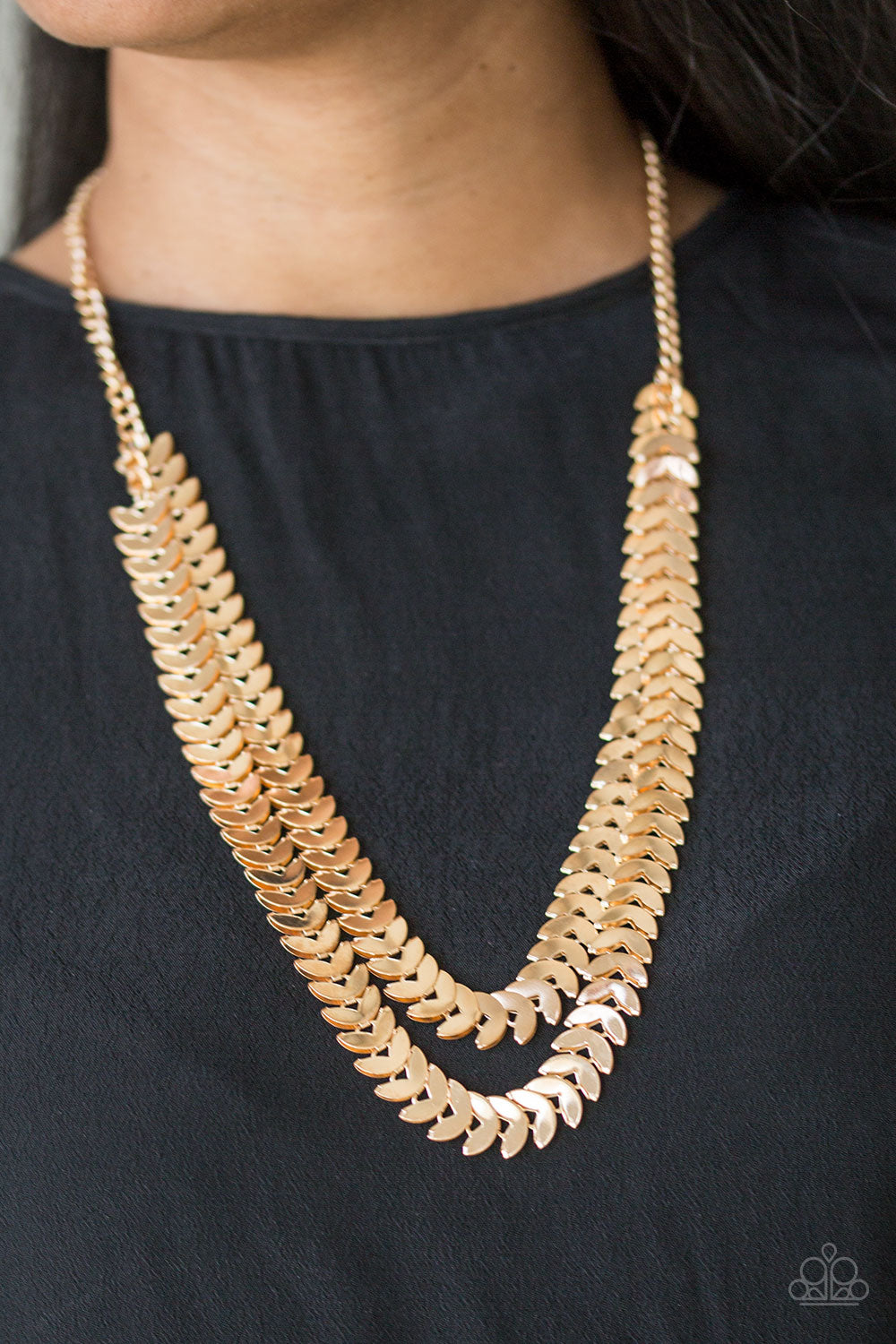 Industrial Illumination Paparazzi Necklace-Gold