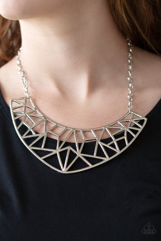 Strike While HAUTE Paparazzi Necklace-Silver