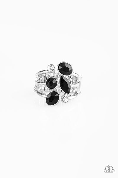 Metro Mingle Paparazzi Ring-Black