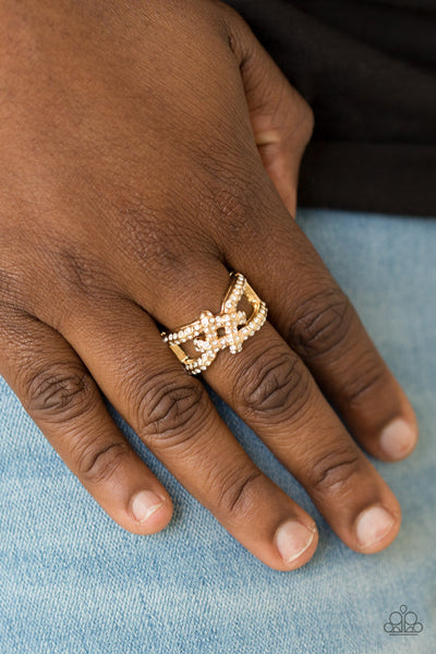 Can Only Go UPSCALE From Here Paparazzi Ring-Gold