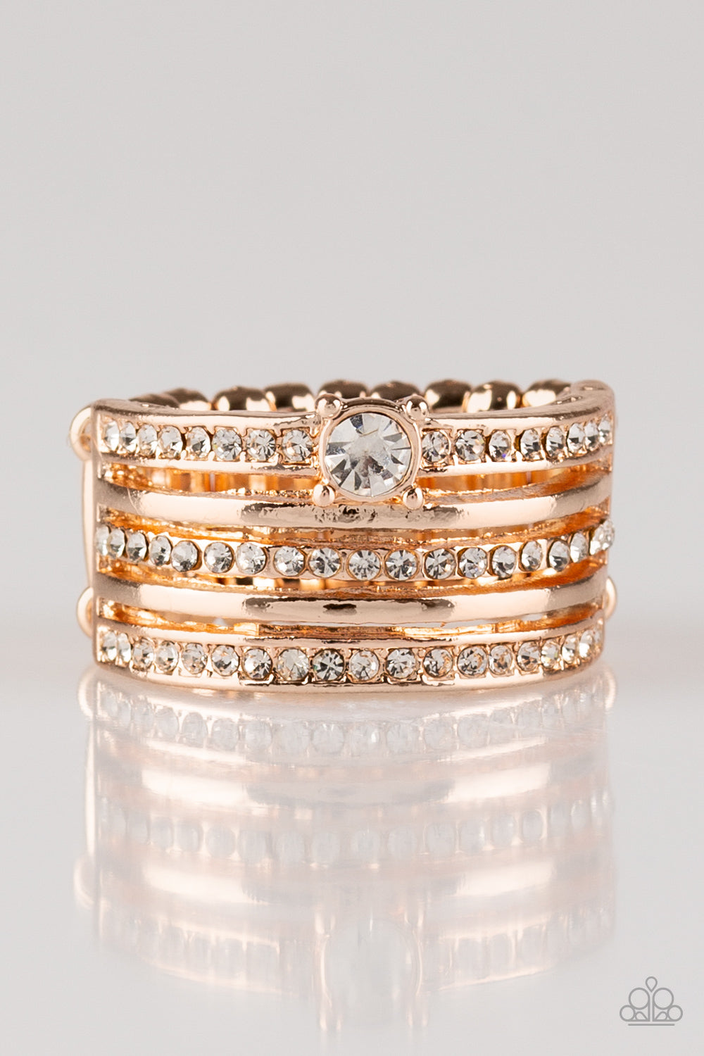The Dealmaker Paparazzi Ring-Rose Gold