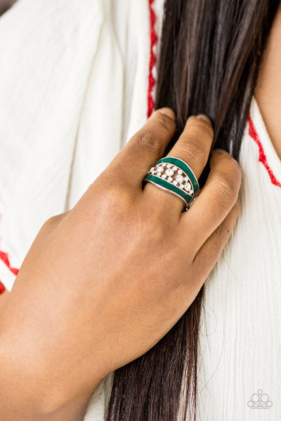 Trending Treasure Paparazzi Ring-Green