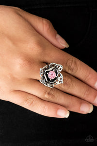 Glowing Gardens Paparazzi Ring-Pink