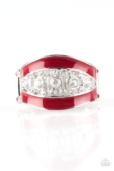 Trending Treasure Paparazzi Ring-Red
