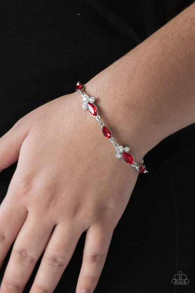 At Any Cost Paparazzi Bracelets-Red