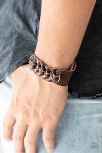 Rustle Up Paparazzi Bracelet-Brown