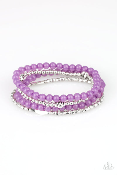 Blooming Buttercups Paparazzi Bracelet-Purple