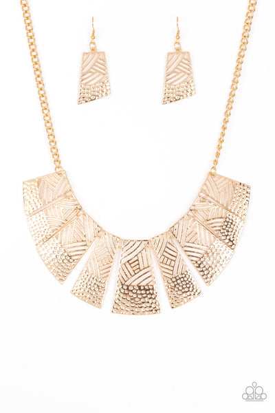 Jungle Cat Jam Paparazzi Necklace-Gold
