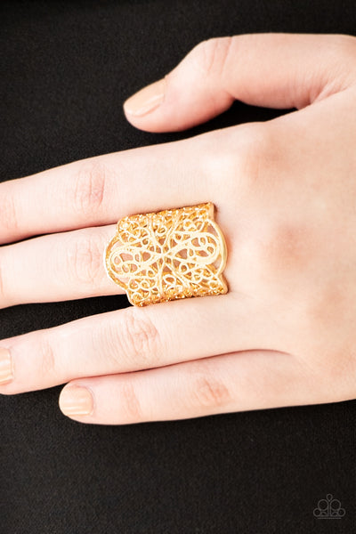 The Way You Make Me FRILL Paparazzi Ring-Gold