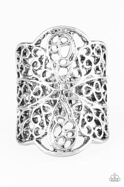 The Way You Make Me FRILL Paparazzi Ring-Silver