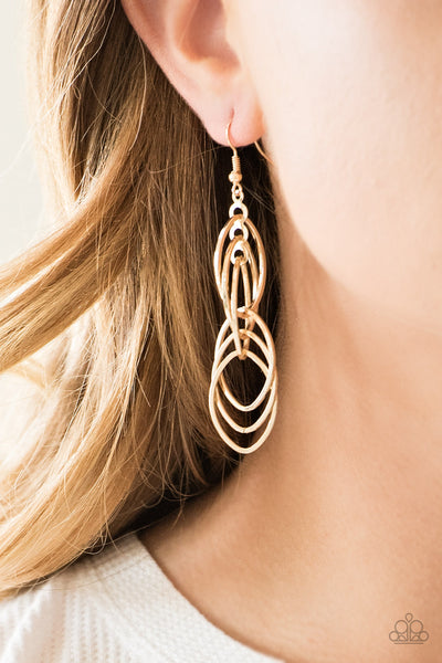 Tangle Tango Paparazzi Earrings-Gold