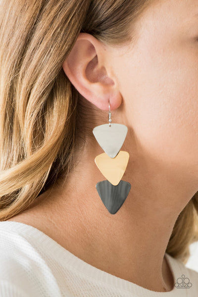 Terra Trek Paparazzi Earrings-Multi