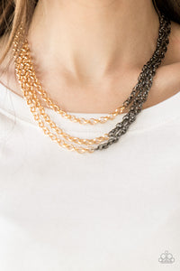 Metro Madness Gold Paparazzi Necklace