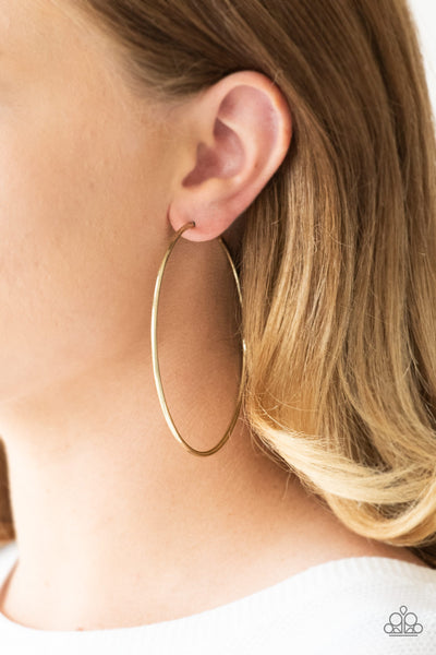 Meet Your Maker Paparazzi Earrings-Brass