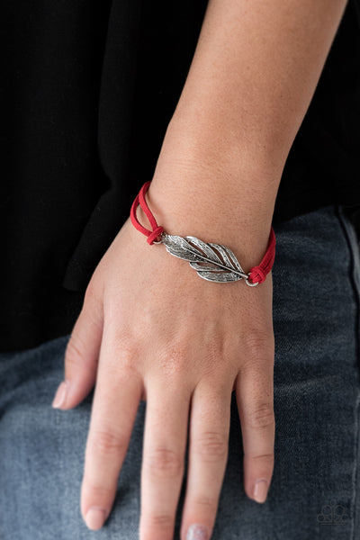 Faster Than FLIGHT Paparazzi Bracelet-Red