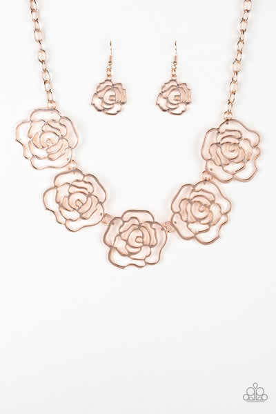 Budding Beauty Paparazzi Necklace-Rose Gold
