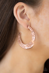 The HOOP Up Paparazzi Earrings-Copper