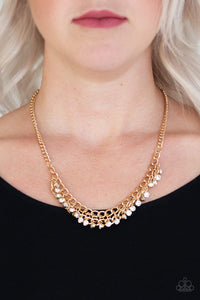 Glow and Grind Paparazzi Necklace-Gold