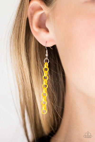 Turn Up The Volume Yellow Paparazzi Necklace