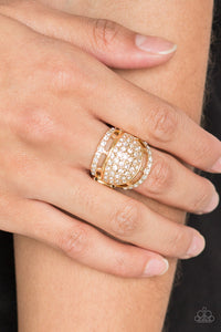 The Seven-FIGURE Itch Paparazzi Ring-Gold