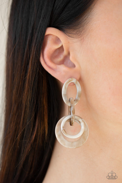 Havana HAUTE Spot Paparazzi Earrings-Brown